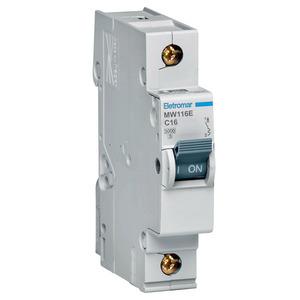Disjuntor Din Monopolar 220/400V 16A 18x85,10x58,30mm Mw116E Eletromar