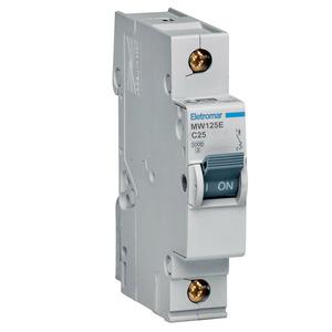Disjuntor Din Monopolar 220/400V 25A 18x85,10x58,30mm Mw125E Eletromar