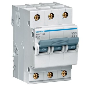Disjuntor Din Tripolar 220/400V 16A 54x85,10x58,30mm Mw316E Eletromar