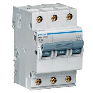 Disjuntor Din Tripolar 220/400V 32A 54x85,10x58,30mm Mw332E Eletromar