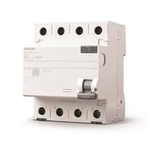 Disjuntor DR Tetrapolar 220V (380V)  3P+N 80A/30mA Tipo AC Siemens