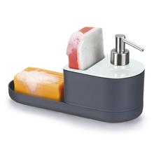 Dispender para Detergente Bucha e Sabão Plástico Branco By Arthi