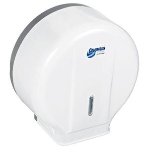 Dispenser Papel Higiênico Rolo Plástico Branco Columbus