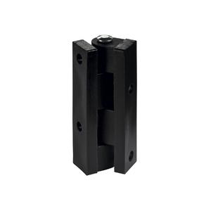 Dobradiça para Móvel 45x10mm Preto Plástico
