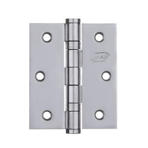 """Dobradiça para Porta 3X2,5"""" Inox Cromado 3 peças Imab"""