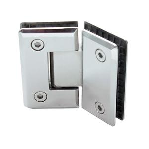 Dobradiça para Porta de Box de Vidro Aço Inox Polido 135º