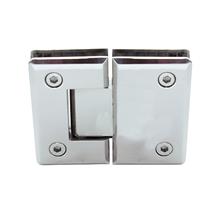 Dobradiça para Porta de Box de Vidro Aço Inox Polido 180º
