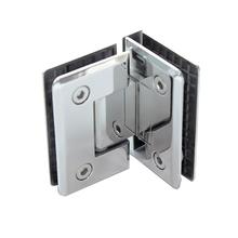 Dobradiça para Porta de Box de Vidro Aço Inox Polido 90º