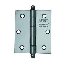 "Dobradiça para Porta Simples 3x2.5"" Aço Cromado La Fonte"