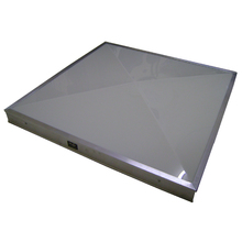 Domo Zenital em Policarbonato Compacto Branco Leitoso 0,75x0,75m Formalux