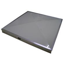Domo Zenital em Policarbonato Compacto Branco Leitoso 1,25x1,25m Formalux