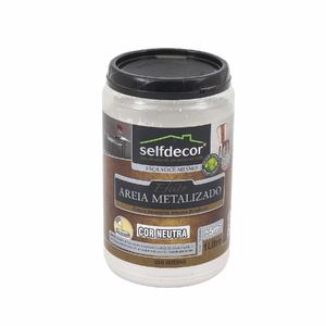 Efeito Areia Metalizado Selfdecor Neutro 1L Bricolagem