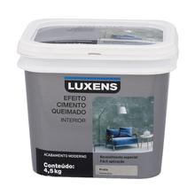 Efeito Cimento Queimado Prata 4,5Kg Luxens