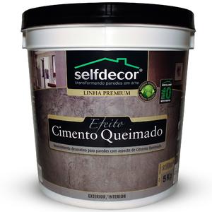 Efeito Cimento Queimado Selfdecor Cinza Claro 5Kg Bricolagem