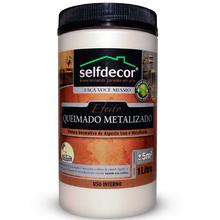 Efeito Queimado Metalizado Selfdecor Neutro 1L Bricolagem