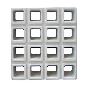 Elemento Vazado 16 furos Concreto Natural 40x44x7cm Lajes São Francisco