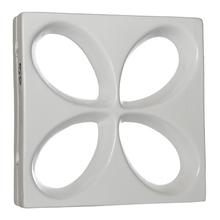 Elemento Vazado Acetinado Branco Floral 30x30x8,5cm Essenza