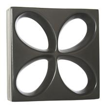 Elemento Vazado Acetinado Preto Floral 30x30x8,5cm Essenza