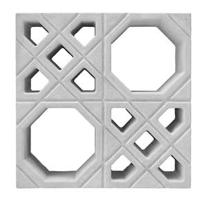 Elemento Vazado Árabe Concreto Natural 39x39x7cm Lajes São Francisco