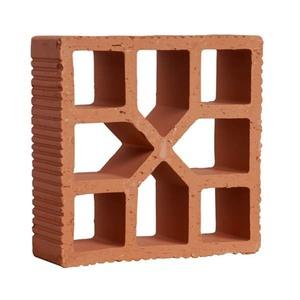 Elemento Vazado Cerâmica Reto Xis 18x18x7cm