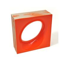 Elemento Vazado Cerâmica Esmaltado Arancione Lunna 20x20x7,5cm Elemento V