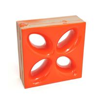 Elemento Vazado Cerâmica Esmaltado Arancione Mini Foglio 20x20x7,5cm Elemento V