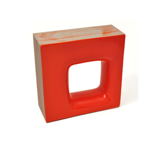 Elemento Vazado Cerâmica Esmaltado Arancione Quadratto 20x20x7,5cm Elemento V