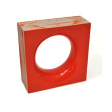 Elemento Vazado Cerâmica Esmaltado Arancione Sphera 20x20x7,5cm Elemento V