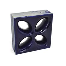 Elemento Vazado Cerâmica Esmaltado Azzuro Mini Foglio 20x20x7,5cm Elemento V