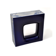 Elemento Vazado Cerâmica Esmaltado Azzuro Quadratto 20x20x7,5cm Elemento V