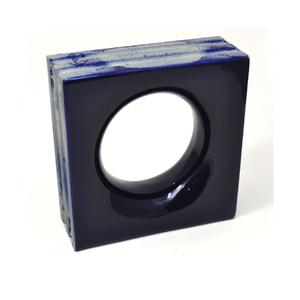 Elemento Vazado Cerâmica Esmaltado Azzuro Sphera 20x20x7,5cm Elemento V