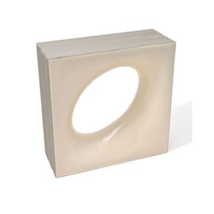 Elemento Vazado Cerâmica Esmaltado Beige Lunna 20x20x7,5cm Elemento V