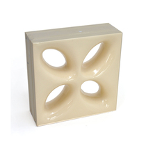 Elemento Vazado Cerâmica Esmaltado Beige Mini Foglio 20x20x7,5cm Elemento V