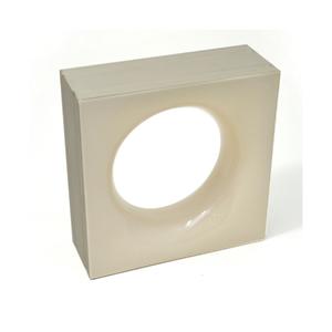 Elemento Vazado Cerâmica Esmaltado Beige Sphera 20x20x7,5cm Elemento V