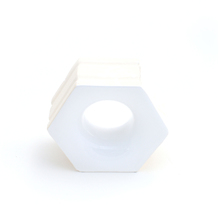 Elemento Vazado Cerâmica Esmaltado Branco Favo 13x16x7cm Elemento V