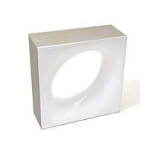 Elemento Vazado Cerâmica Esmaltado Branco Lunna 20x20x7,5cm Elemento V