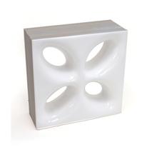 Elemento Vazado Cerâmica Esmaltado Branco Mini Foglio 20x20x7,5cm Elemento V