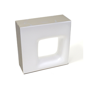 Elemento Vazado Cerâmica Esmaltado Branco Quadratto 20x20x7,5cm Elemento V