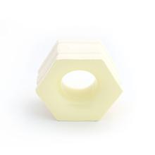 Elemento Vazado Cerâmica Esmaltado Giallo Chiaro Favo 13x16x7cm Elemento V