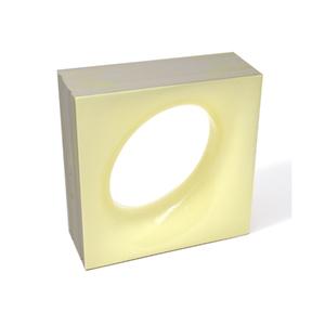 Elemento Vazado Cerâmica Esmaltado Giallo Chiaro Lunna 20x20x7,5cm Elemento V