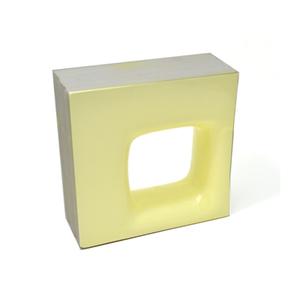 Elemento Vazado Cerâmica Esmaltado Giallo Chiaro Quadratto 20x20x7,5cm Elemento V