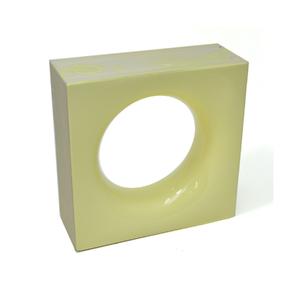 Elemento Vazado Cerâmica Esmaltado Giallo Chiaro Sphera 20x20x7,5cm Elemento V