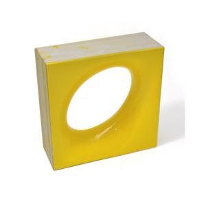 Elemento Vazado Cerâmica Esmaltado Giallo Citrico Lunna 20x20x7,5cm Elemento V