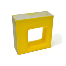 Elemento Vazado Cerâmica Esmaltado Giallo Citrico Quadratto 20x20x7,5cm Elemento V