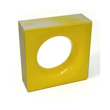 Elemento Vazado Cerâmica Esmaltado Giallo Cítrico Sphera 20x20x7,5cm Elemento V