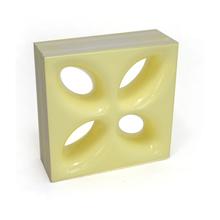 Elemento Vazado Cerâmica Esmaltado Giallo Mini Foglio 20x20x7,5cm Elemento V