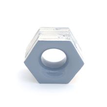 Elemento Vazado Cerâmica Esmaltado Grigio Favo 13x16x7cm Elemento V