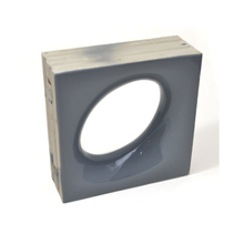 Elemento Vazado Cerâmica Esmaltado Grigio Lunna 20x20x7,5cm Elemento V