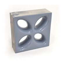 Elemento Vazado Cerâmica Esmaltado Grigio Mini Foglio 20x20x7,5cm Elemento V