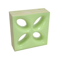 Elemento Vazado Cerâmica Esmaltado Muschio Mini Foglio 20x20x7,5cm Elemento V